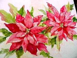 320x240 Painting Poinsettias