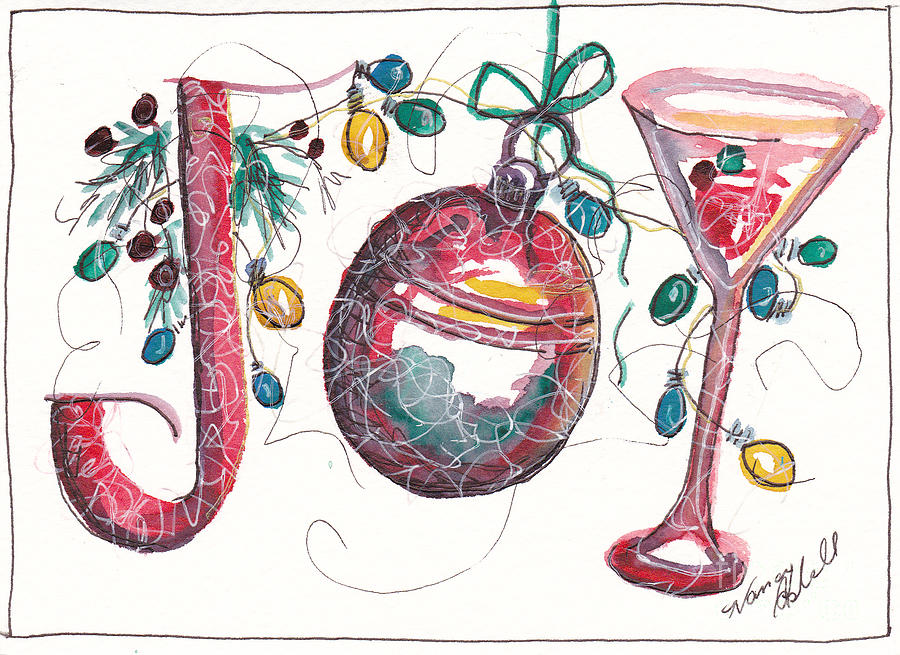 900x655 Watercolor Christmas Notecard Painting By Michele Hollister