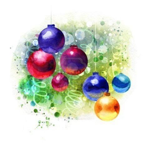 474x474 Christmas Watercolor Paintings