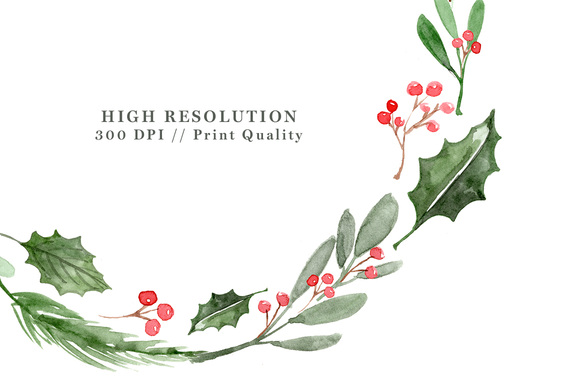 Christmas Wreath Watercolor At Getdrawings Com Free For Personal