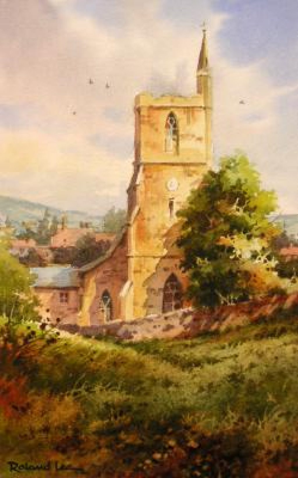 1024x1644 Watercolor Painting Lesson English Church Roland Lee