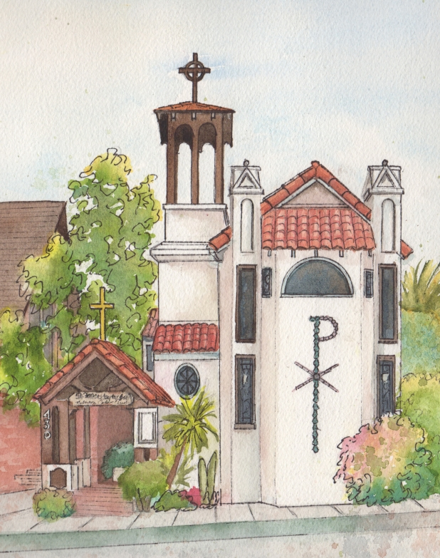 618x783 Watercolor Painting Of Church And Other Wedding Venues Home