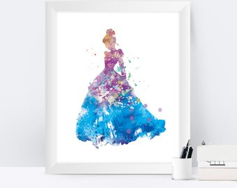 340x270 70% Cinderella Watercolor Watercolor Disney Disney Decor