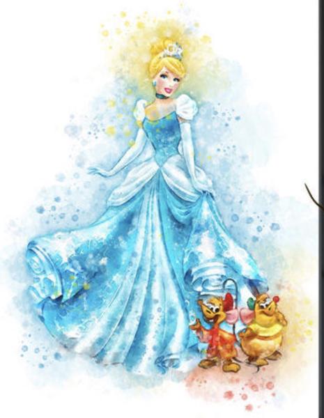 465x600 Cinderella Watercolor Tee