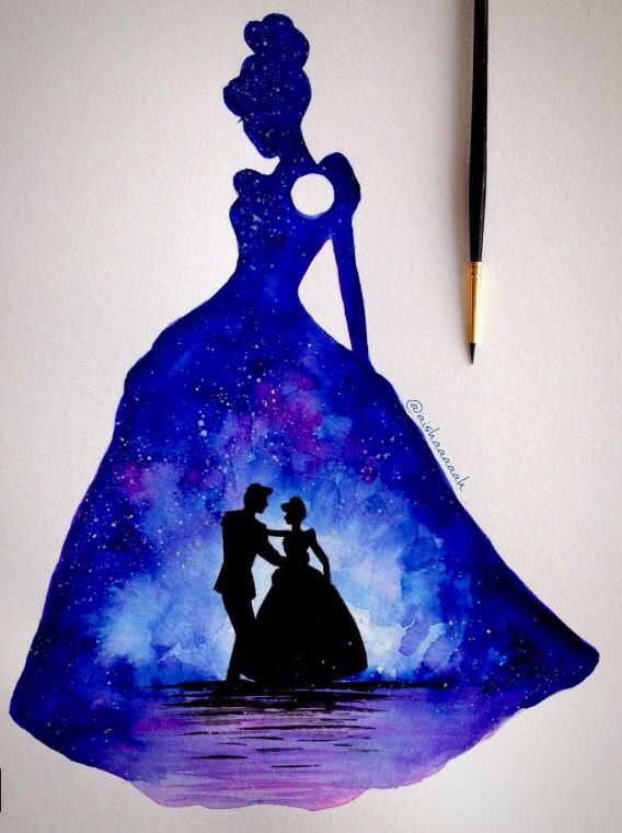 568x760 Cinderella And The Beautiful Memory In Her Dress Watercolor