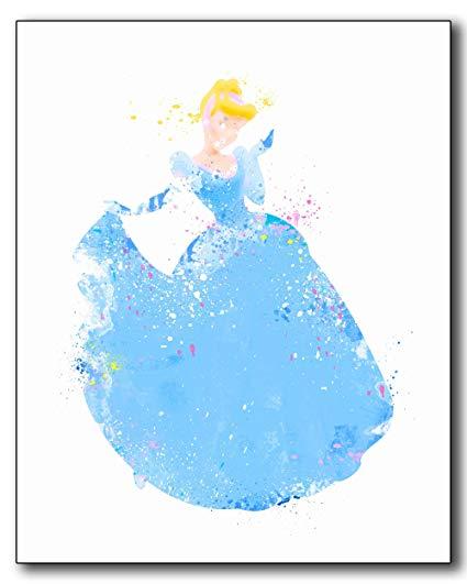 425x531 Cinderella Disney Princess Watercolor Photo Prints