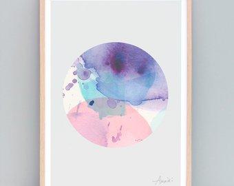 340x270 Circle Art Print Etsy