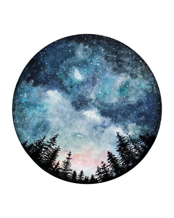 570x713 Starry Sky Watercolour Art Print