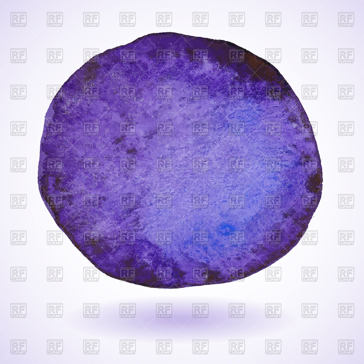 1200x1200 Violet Watercolor Painted Circle Vector Image Vector Artwork Of