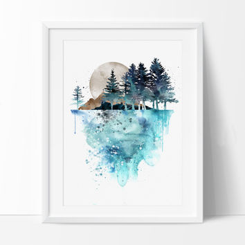 354x354 Best Watercolor Paintings Trees Products On Wanelo