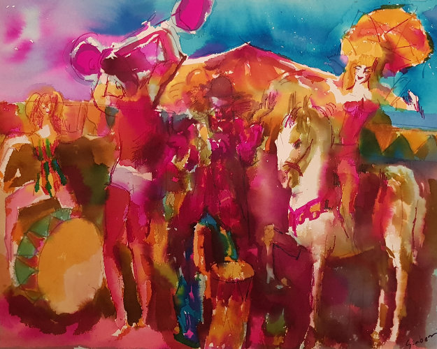 625x500 Circus Watercolor 1975 23x27 By Nicola Simbari