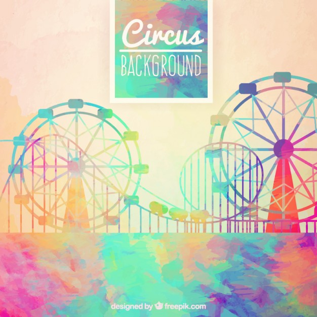 626x626 Watercolor Circus Background In Abstract Style Vector Free Download