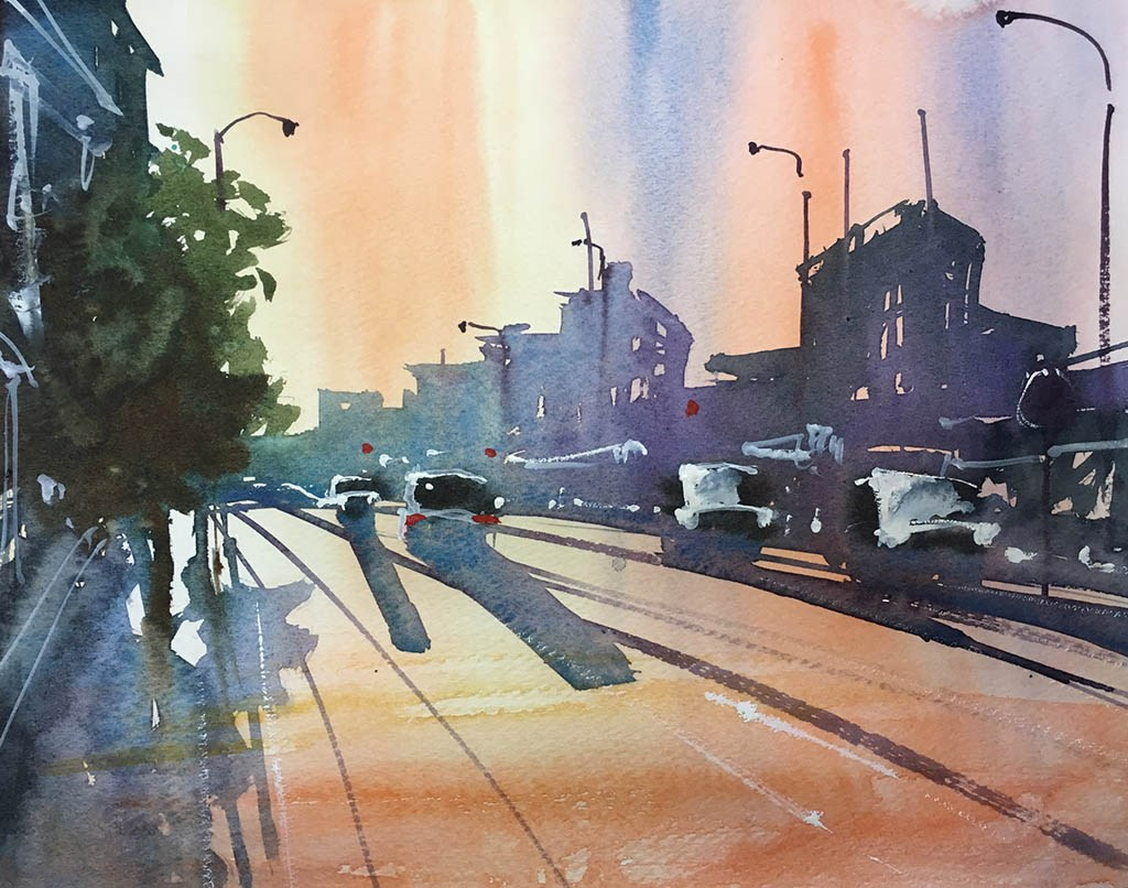 1024x806 ~ Guest Artist 100 Watercolor Paintings Of City