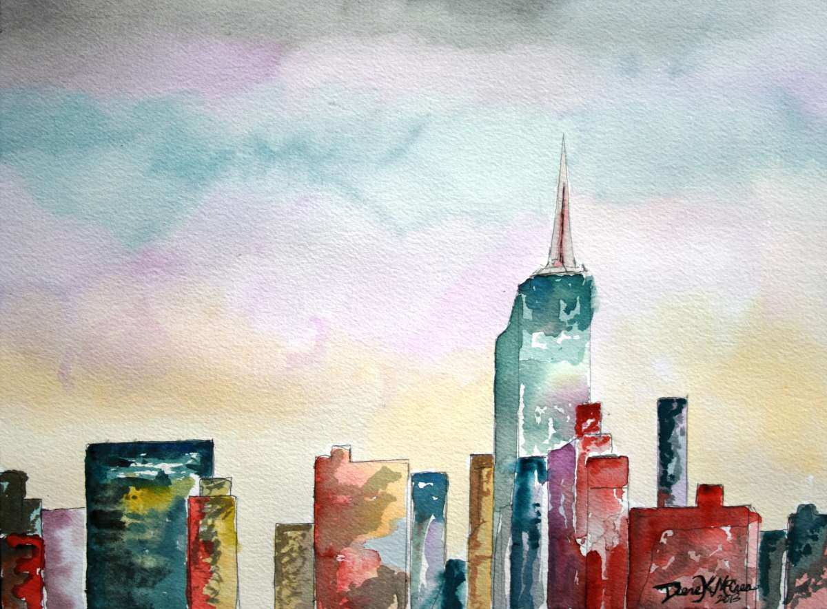 1200x885 New York City Painting New Watercolor Paintings Art By Derek