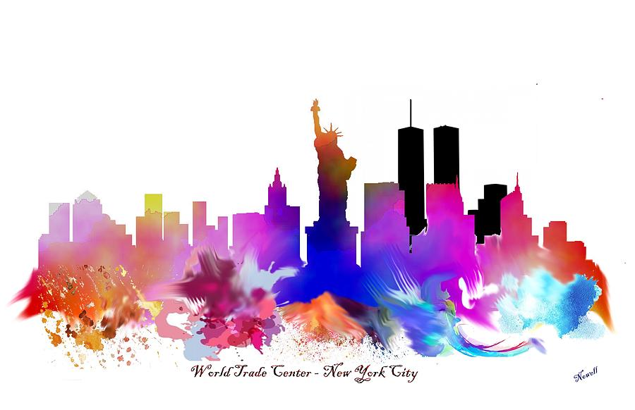 900x582 New York City Watercolor Art Painting By Peter Nowell