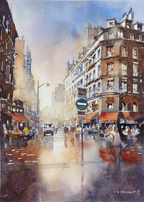 550x770 Big City Scenes In Watercolor