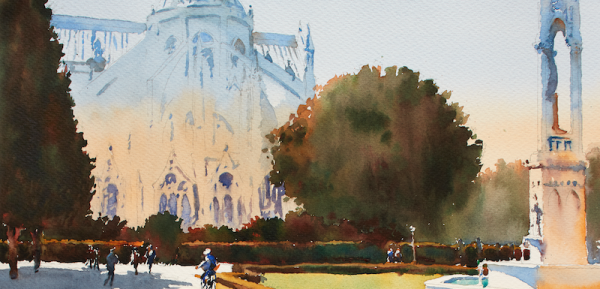 600x289 Learn To Paint Cityscapes In Watercolor