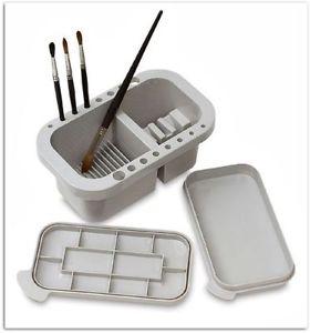 280x300 Brush Cleaner Tub Paint Bristles Saver Palette Lid Art Artist