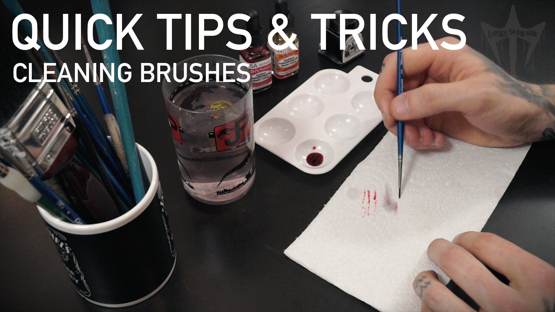1920x1080 Quick Tips And Tricks Brush Cleaning Watercolour Inks Tattoo