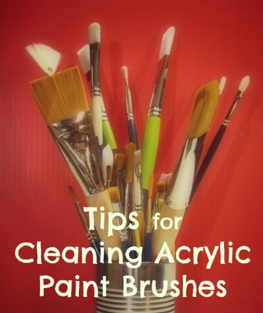 520x619 Tips For Cleaning Acrylic Paint Brushes Feltmagnet