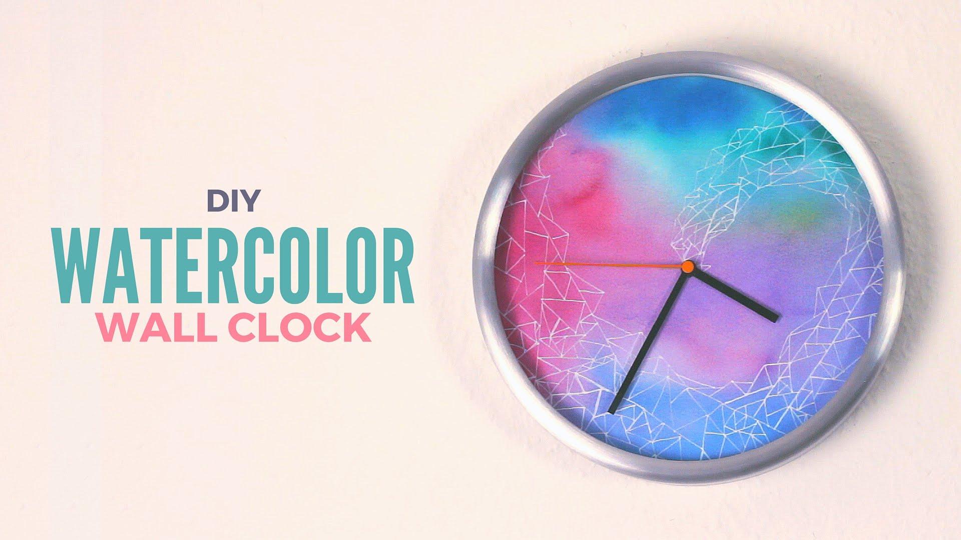 1920x1080 Diy Watercolor Wall Clock