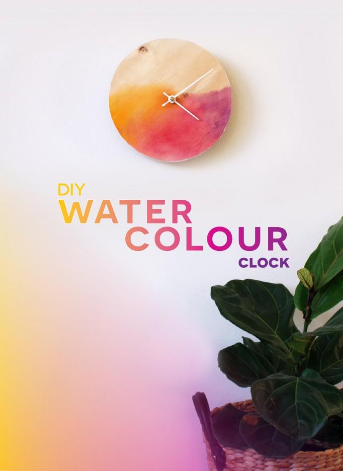 690x948 Diy Watercolour Clock