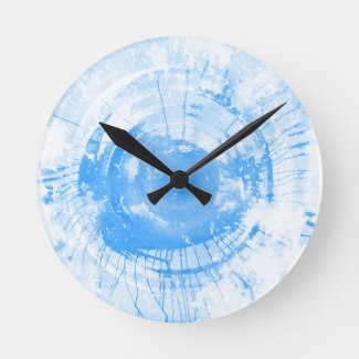 325x325 Abstract Blue Watercolor Background Wall Clocks Watercolor Home