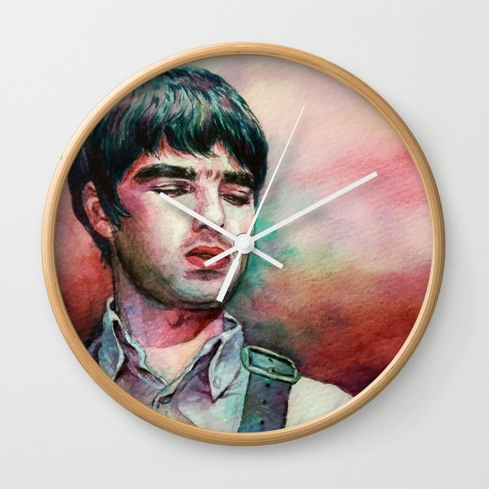 700x700 Noel Gallagher Watercolor Painting Wall Clock By Directionest