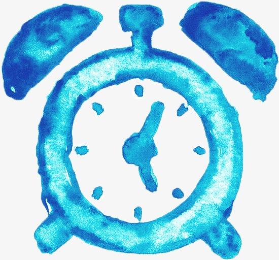 550x512 Watercolor Alarm Clock, Watercolor Clipart, Clock Clipart, Chinese