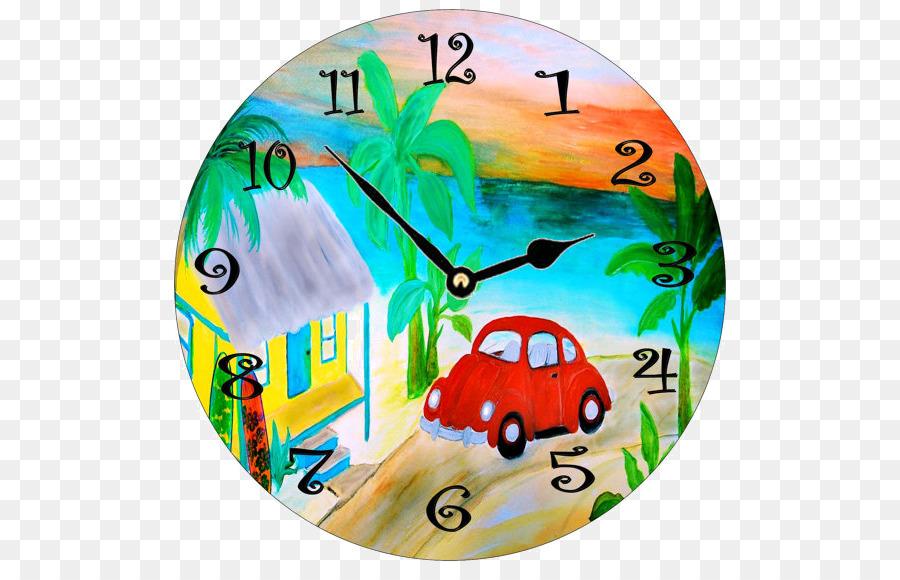 900x580 Alarm Clock Table Watercolor Painting