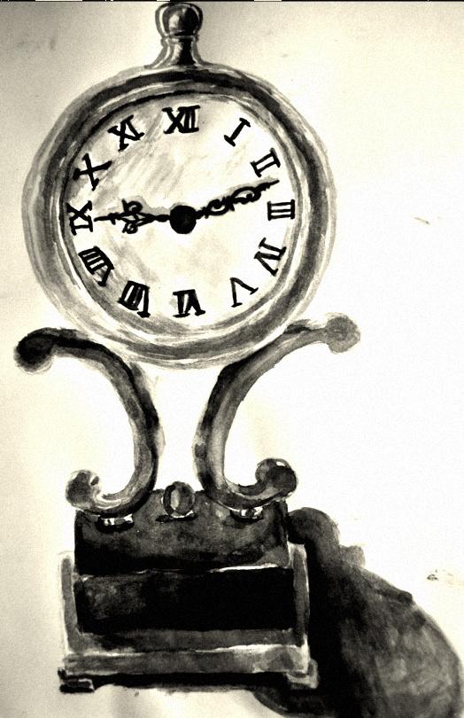 524x810 Clock (Watercolor) By Sapphiresoul123