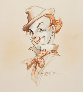 272x300 Eulalie Banks Clown Face Original Watercolor Painting Signed Ebay