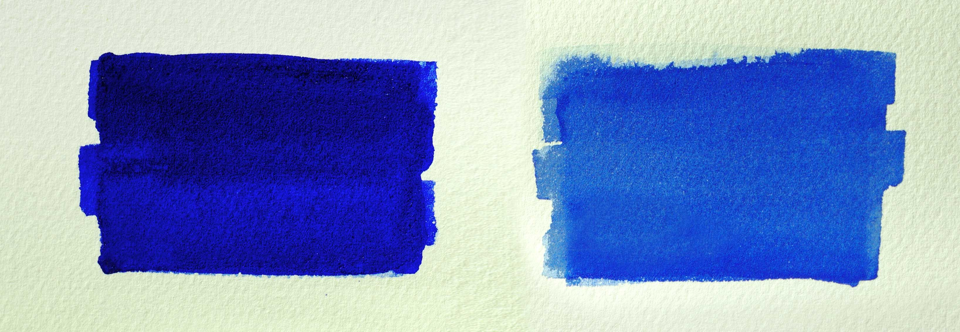 3273x1134 French Ultramarine And Cobalt Blue Watercolor