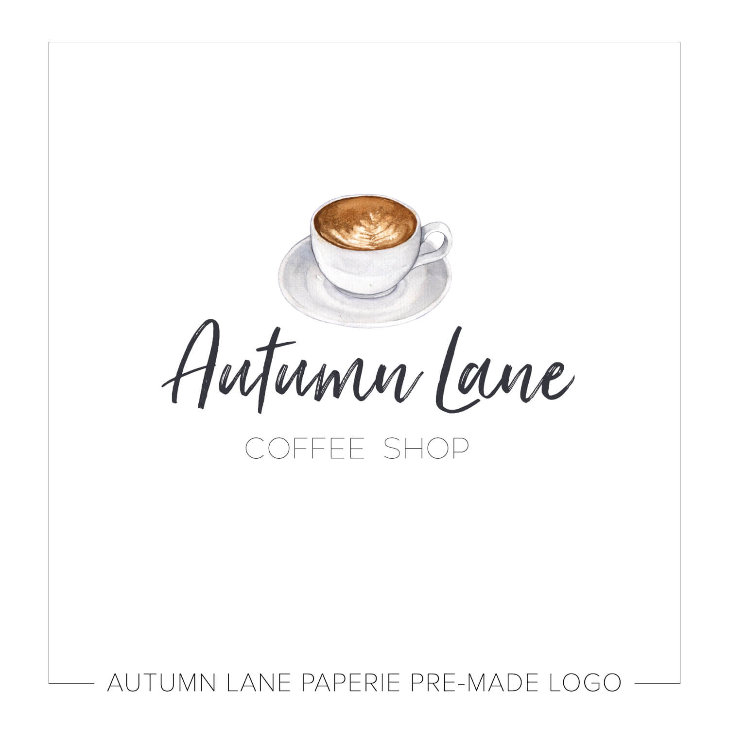 1500x1500 Tiny Coffee Cup Watercolor Logo J82 Autumn Lane Paperie