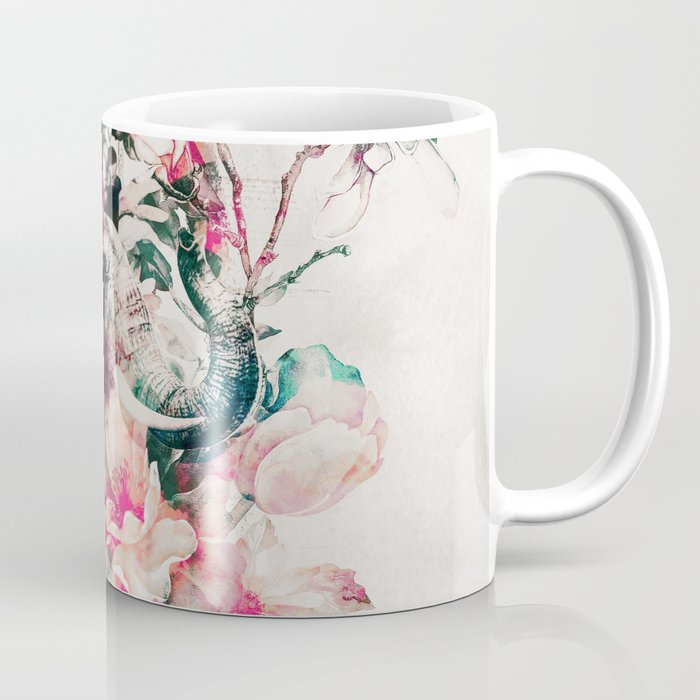700x700 Watercolor Elephant And Flowers Coffee Mug By Rizapeker Society6