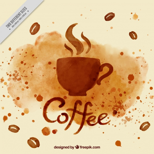 626x626 Watercolor Coffee Cup Background Vector Free Download