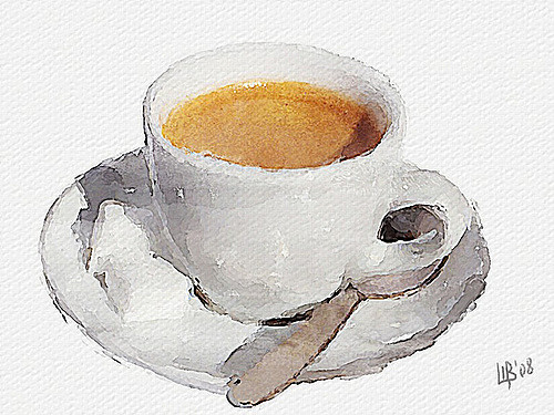 500x375 Coffee Cup Enjoy! Digital Watercolor From My Photo Vitaly
