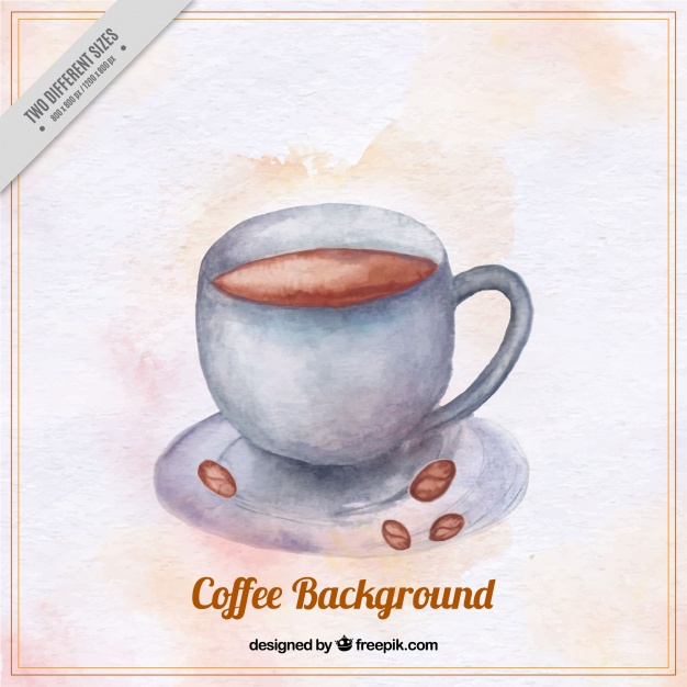 626x626 Background Of Coffee Mug In Watercolor Style Vector Free Download