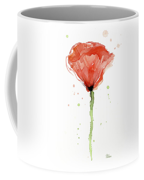 479x600 Abstract Red Poppy Watercolor Coffee Mug For Sale By Olga Shvartsur