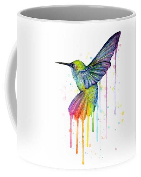 479x600 Hummingbird Of Watercolor Rainbow Coffee Mug For Sale By Olga