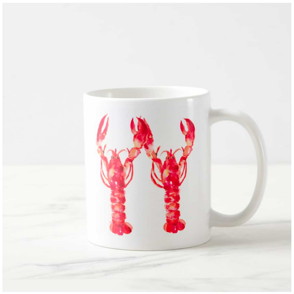 1200x1200 Lobsters Coffee Mug Elegant Amp Custom Watercolor Wedding