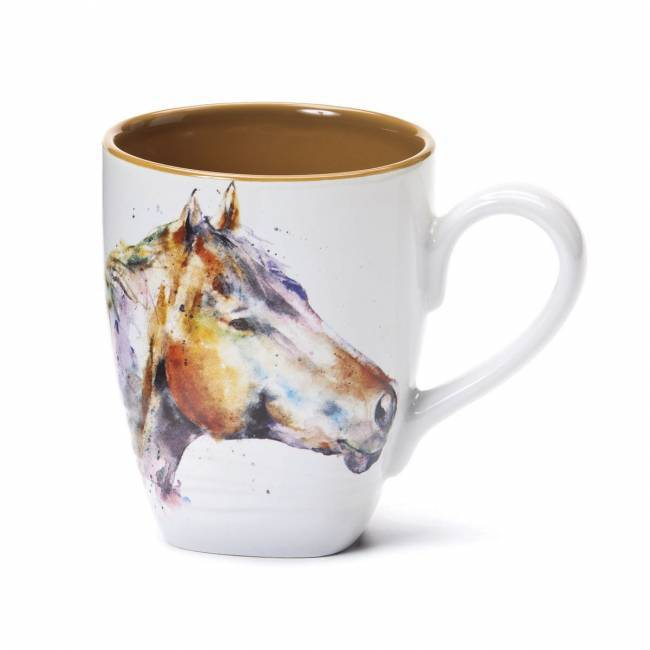 650x650 Watercolor Horse Head Coffee Mug