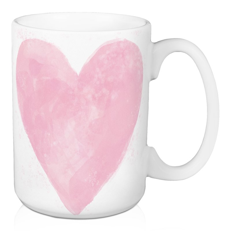 800x800 Wrought Studio Baeza Watercolor Heart Coffee Mug Wayfair