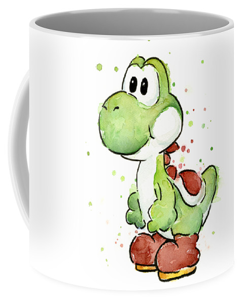 479x600 Yoshi Watercolor Coffee Mug For Sale By Olga Shvartsur
