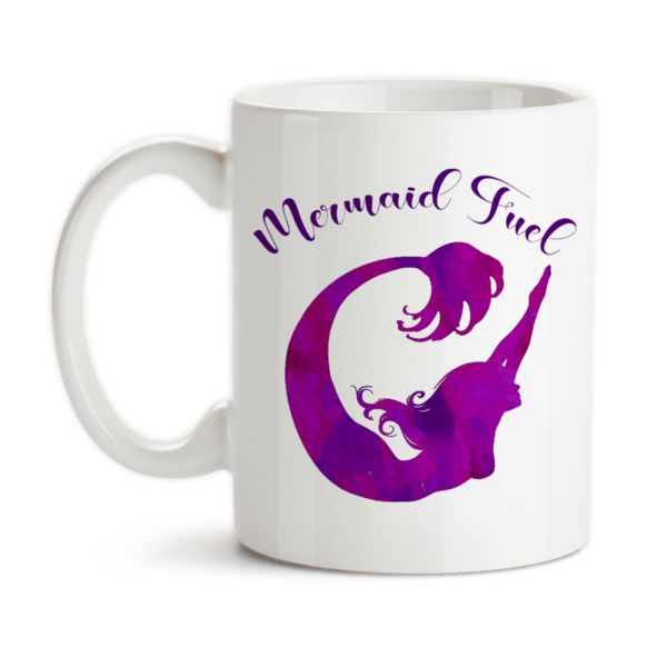 600x600 Coffee Mug, Mermaid Fuel, Mermaid Mug, Mermaid Watercolor, Purple