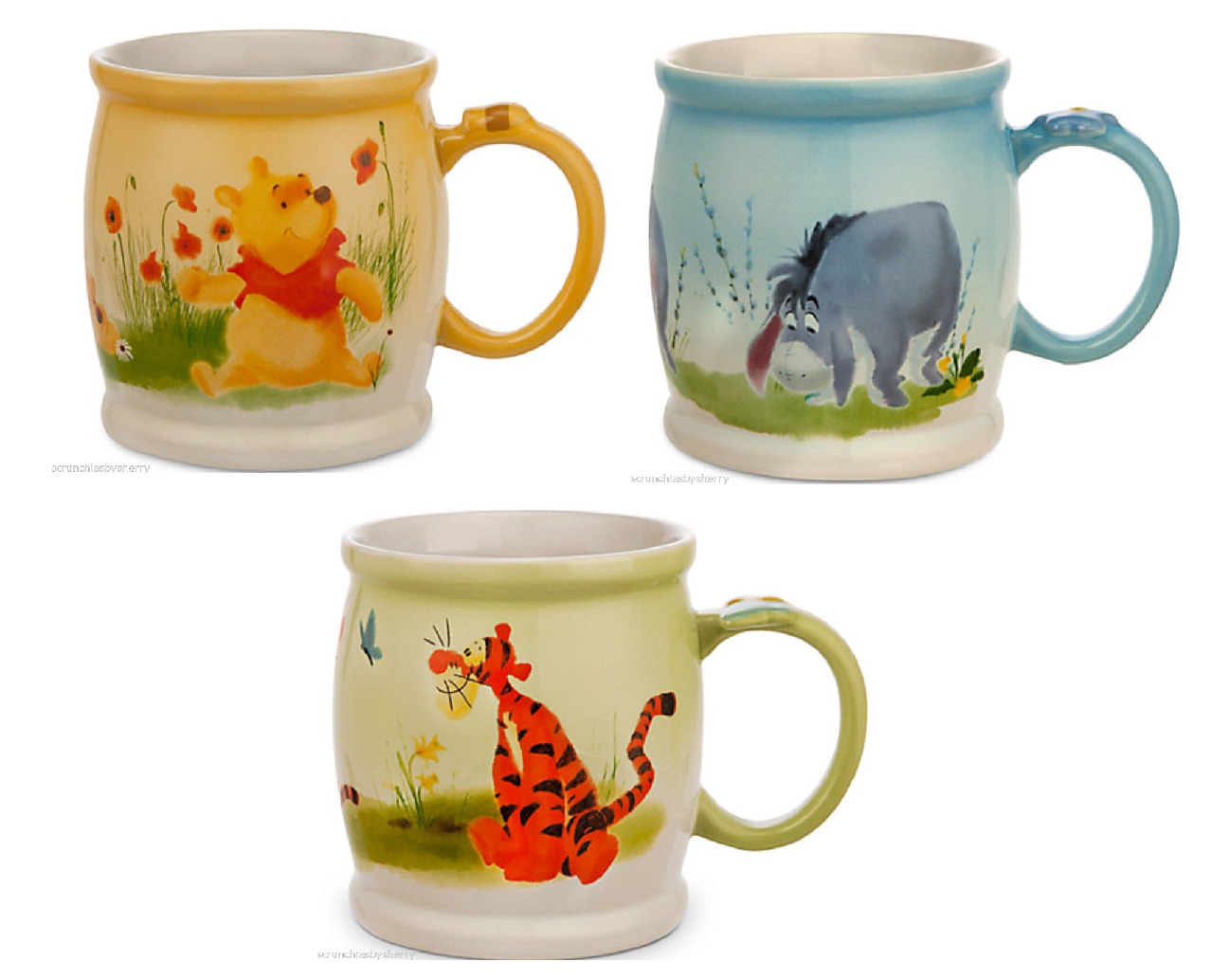 1278x1034 Disney Store Winnie The Pooh Tigger Eeyore Watercolor Coffee Mug