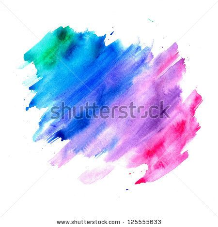 450x470 Abstract Watercolor Background, Blue Purple Pink And Green Color