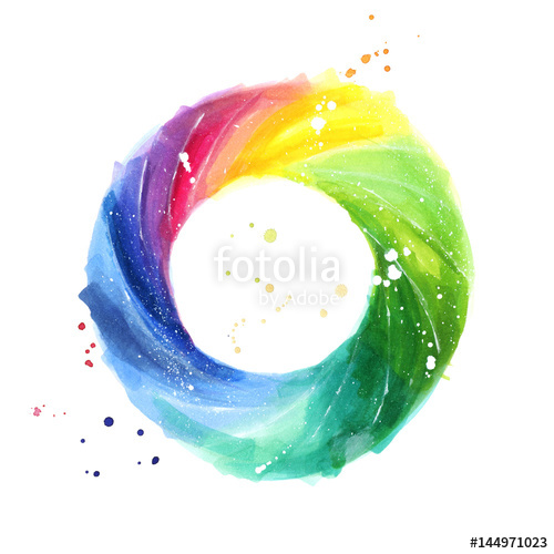 Color Wheel For Watercolor Painting