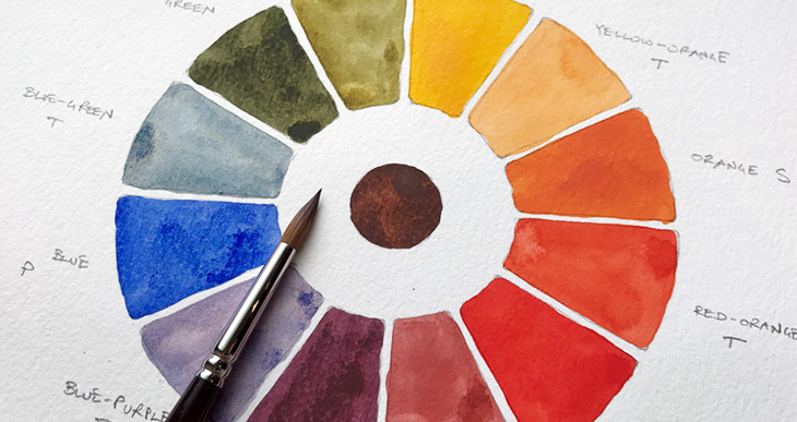 730x387 How To Make A 12 Color Watercolor Wheel Step By Step