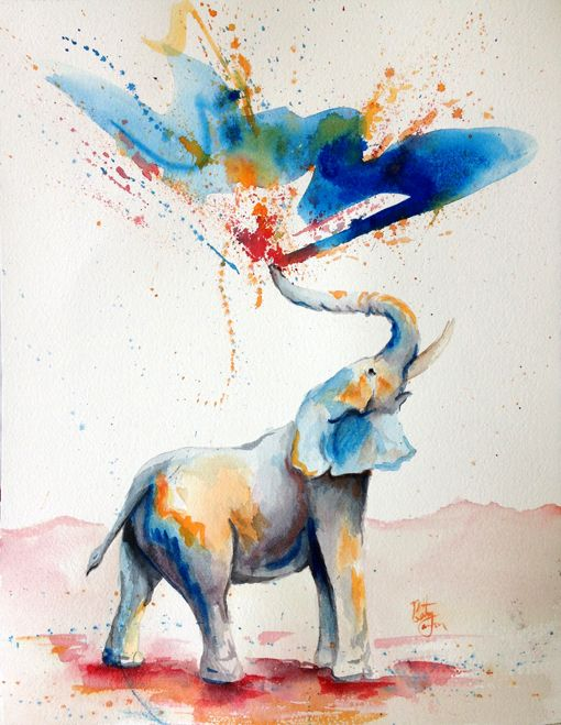 510x659 Bethany Cannon Art Studios Watercolor Watercolor Elephant For A